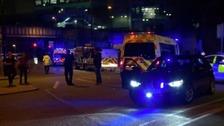 police cordon at Arena