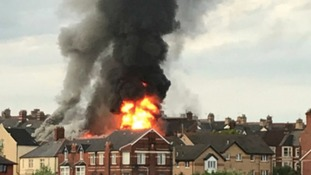 More than 40 firefighters tackle Barry blaze