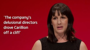 Business Committe chair Rachel Reeves said the Carillion bosses 'pressed the self-destruct button' on the firm.