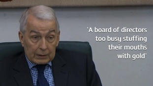 Work and Pensions Committee chair Frank Field lambasted the Carillion hierarchy.