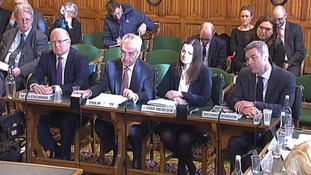 Former Carillion executives giving evidence to MPs.