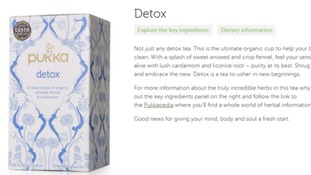 "Pukka Herbs has been banned from naming its tea ""detox""."