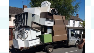 'Dangerously' overloaded vehicle taken off the road