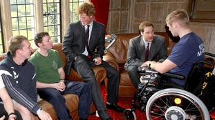 Mark Ormrod (right) first met Prince Harry at Headley Court while recovering from triple amputation.