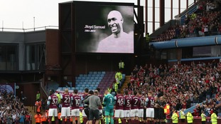 Aston Villa held a minutes applause before their match with Middlesborough on Tuesday evening