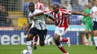 Samuel in action for Bolton in September 2009