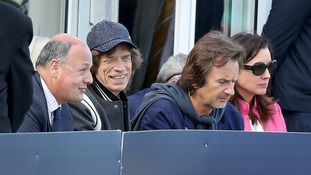 Rolling Stones frontman Mick Jagger watches Ireland's inaugural Test against Pakistan
