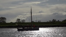 Restored century-old cockle boat sails again on pleasure cruise