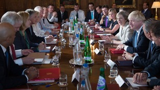 The cabinet, which has significantly changed since this meeting in 2016, has been debating the Government's position on a post-Brexit customs union.