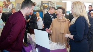 Princess Anne visits Balmoral Show on opening day