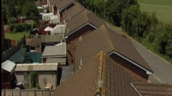 Rooftops of homes in barry