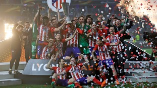 Antoine Griezmann scores twice to see favourites Atletico Madrid beat Marseille in the Europa League final