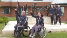 Six of the athletes from the East of England taking part in the Invictus Games in Australia.