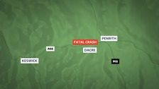 Motorcyclist dies in A66 crash