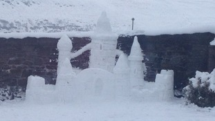 A snow castle