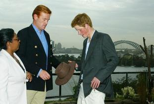 Mark Dyer chats to a a young Prince Harry.