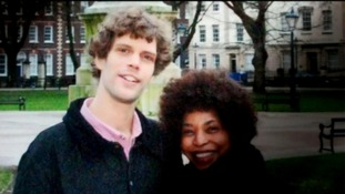 Mark van Dongen pictured with Berlinah Wallace in happier times.