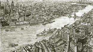 British artist draws The Shard view from memory