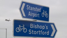 New £800,000 cycle path opens to Stansted airport