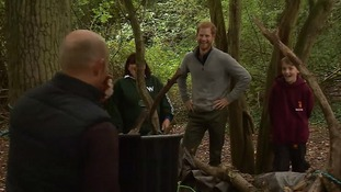 Prince Harry visiting the Wilderness Foundation in Essex in 2017.