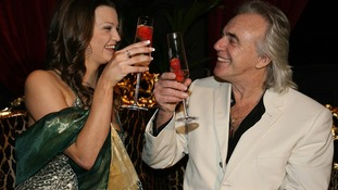 Peter Stringfellow with dancer Shannon celebrate Stringfellows in Dublin
