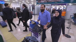 Humam Husari and his wife arrive in Istanbul.