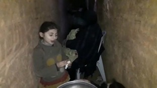 Earlier this year, Humam Husari reported from tunnels in Ghouta where people were sheltering from air strikes.