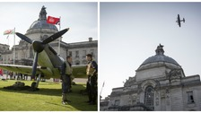 100 years of the RAF marked in Cardiff