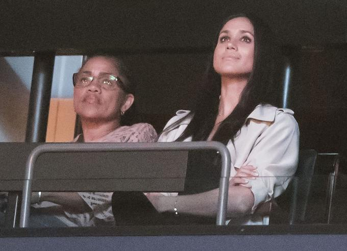 Meghan Markle's mother Doria Ragland accompanied the actress to the closing ceremony of the Invictus Games in Toronto, Canada, in 2017
