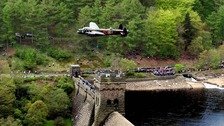 A fly past commemorating the Dambuster's raid