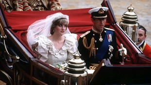 Prince Charles and Lady Diana Spencer wed in 1981.