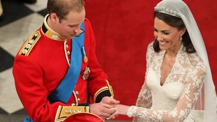 Prince William and Kate Middleton's marriage in 2011.