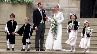 Prince Edward and Sophie Rhys-Jones on their wedding day.