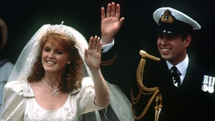 Prince Andrew and Sarah Ferguson's wedding in 1986.