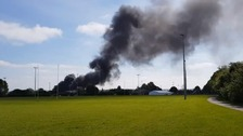 Fire at Hitchin industrial estate