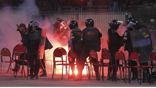 Police react to chaos in Port Said city, were at least 1,000 were injured as rival fans clashed.