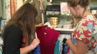 Tessa and Hayley pick out dresses for the big day.