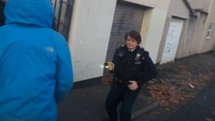 Claire Boddie with the Taser during the incident in Bristol in January 2017.