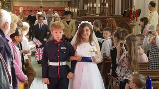 Youngsters at Long Melford Primary stage their own wedding