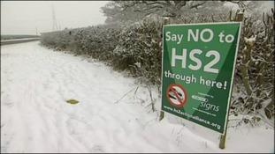 HS2 sign