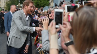 Prince Harry and Prince William go for surprise walkabout outside Windsor Castle