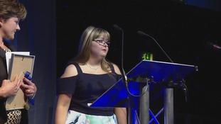 Katie Matthews won the young achiever award