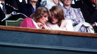 Lady Jane Fellowes and her sister, Diana, Princess of Wales