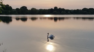 Sunset at Nene Park, Peterborough on Friday 18 May 2018.