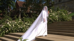 Meghan Markle's dress was designed by Clare Waight Keller for Givenchy.