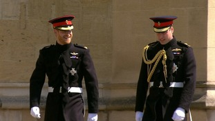 Harry and William's uniforms were tailored at Dege & Skinner on Savile Row.