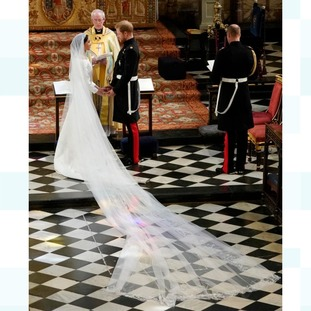 Prince Harry and Meghan Markle during their wedding ceremony.