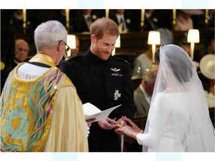 Harry & Meghan making their vows during the wedding ceremony