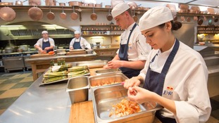 Some 25 chefs prepared the 7,500 items of food on offer.