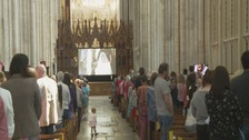 Winchester Cathedral celebrates the royal wedding